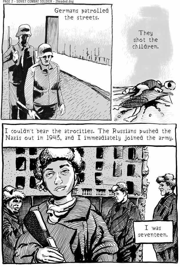 Soviet Combat Soldier Comic Book Page 2