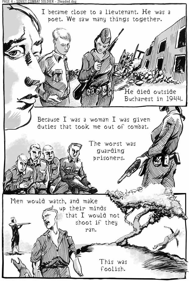 Soviet Combat Soldier Comic Book Page 4