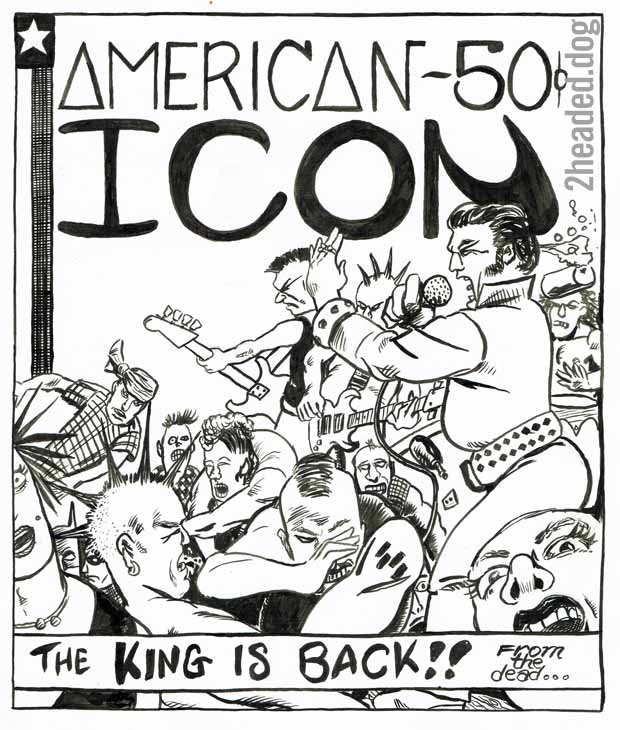 King is back - American Icon number 1 alternative comic cover