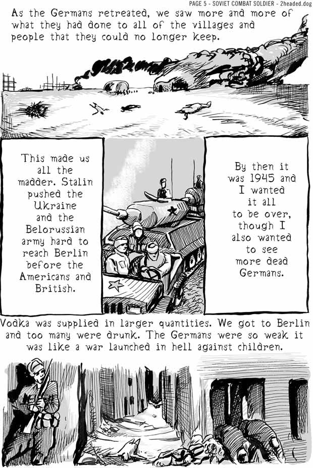 Soviet Combat Soldier Comic Book Page 5